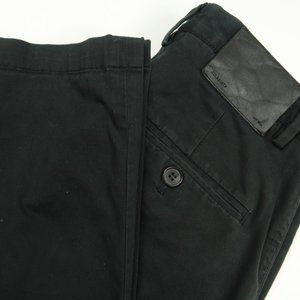 AllSaints Black Weathered Chinos Size 28